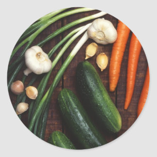 Healthy Vegetables Round Sticker