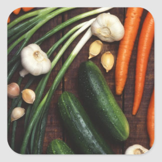 Healthy Vegetables Square Sticker