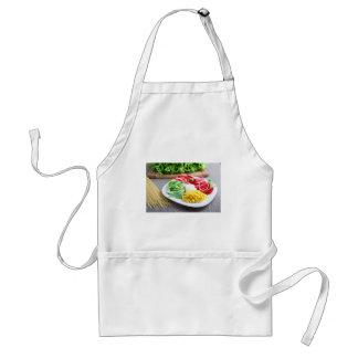 Healthy vegetarian dish of fresh vegetables standard apron