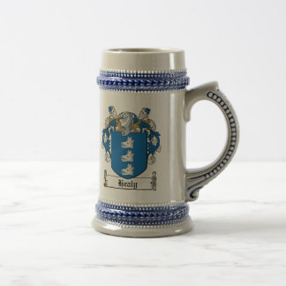 Healy Family Crest Beer Stein