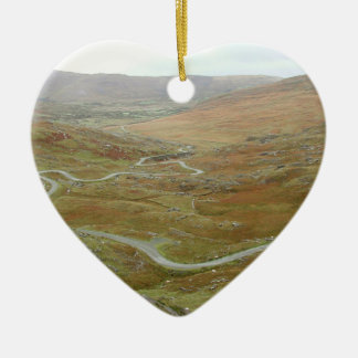 Healy Pass, Beara Peninsula, Ireland. Ceramic Heart Decoration