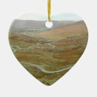 Healy Pass, Beara Peninsula, Ireland. Ceramic Heart Decoration
