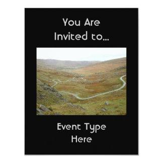"""Healy Pass, Beara Peninsula, Ireland. 4.25"""" X 5.5"""" Invitation Card"""