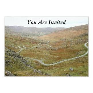 """Healy Pass, Beara Peninsula, Ireland. 5"""" X 7"""" Invitation Card"""