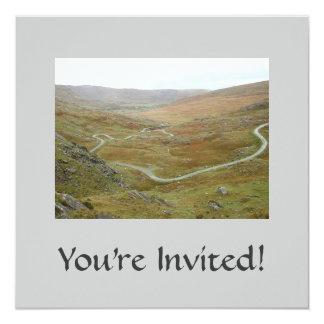 """Healy Pass, Beara Peninsula, Ireland. 5.25"""" Square Invitation Card"""