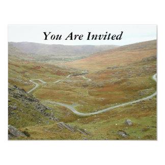 Healy Pass, Beara Peninsula, Ireland. 11 Cm X 14 Cm Invitation Card