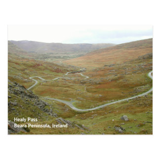 Healy Pass, Beara Peninsula, Ireland. Postcard