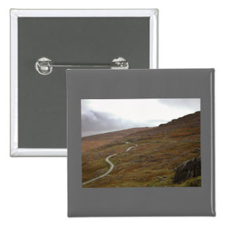 Healy Pass Winding Road in Ireland Button