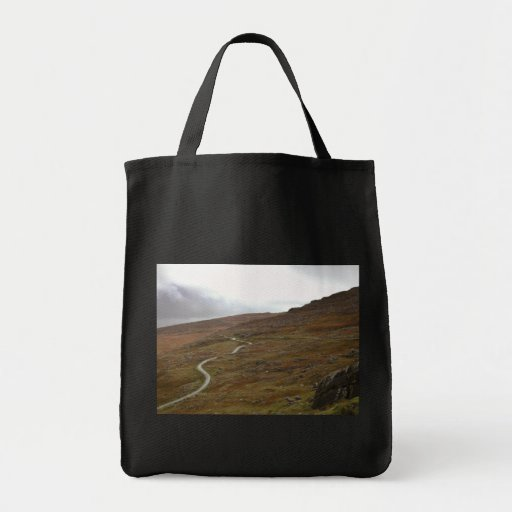 Healy Pass, Winding Road in Ireland. Canvas Bags