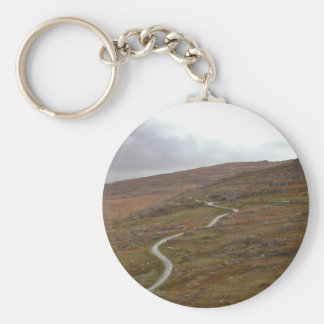 Healy Pass, Winding Road in Ireland. Basic Round Button Key Ring