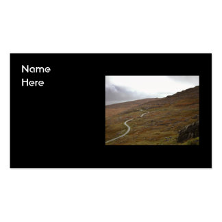 Healy Pass, Winding Road in Ireland. Business Card