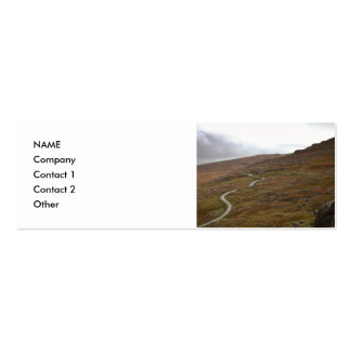 Healy Pass, Winding Road in Ireland. Business Card Template