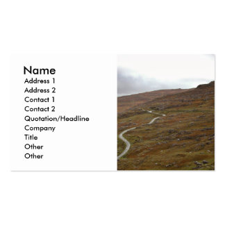 Healy Pass, Winding Road in Ireland. Business Cards