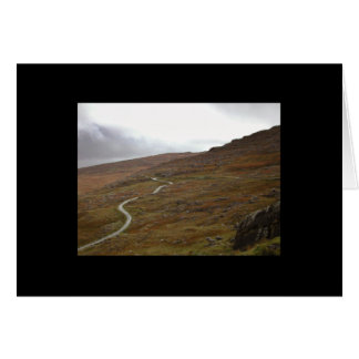 Healy Pass, Winding Road in Ireland. Greeting Card