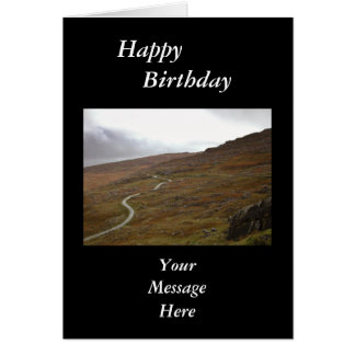 Healy Pass, Winding Road in Ireland. Card