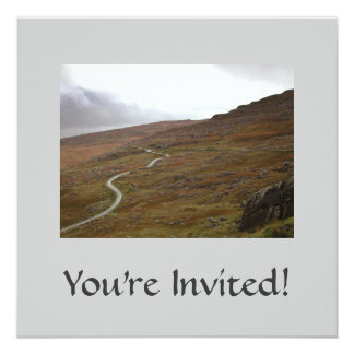 Healy Pass, Winding Road in Ireland. 13 Cm X 13 Cm Square Invitation Card