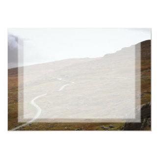 Healy Pass, Winding Road in Ireland. 13 Cm X 18 Cm Invitation Card