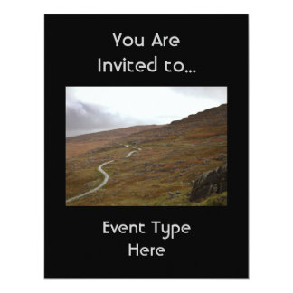 "Healy Pass, Winding Road in Ireland. 4.25"" X 5.5"" Invitation Card"