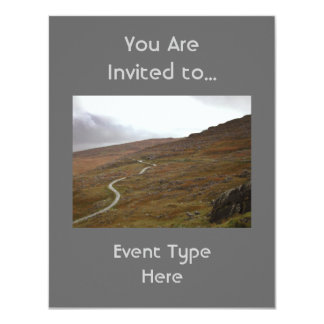 Healy Pass, Winding Road in Ireland. 11 Cm X 14 Cm Invitation Card