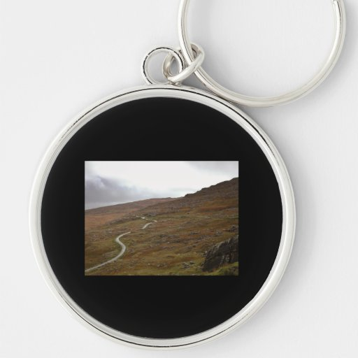 Healy Pass, Winding Road in Ireland. Keychains