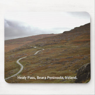 Healy Pass Winding Road in Ireland Mousepads