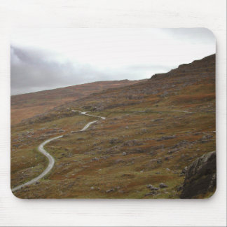 Healy Pass, Winding Road in Ireland. Mousepads