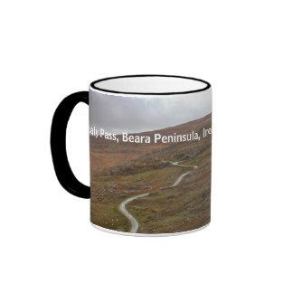 Healy Pass, Winding Road in Ireland. Ringer Mug