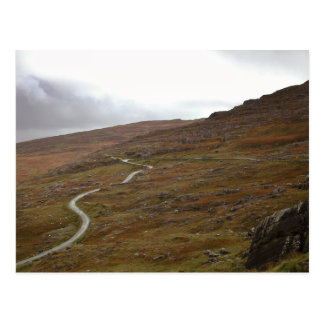 Healy Pass, Winding Road in Ireland. Postcard