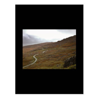 Healy Pass Winding Road in Ireland Post Card