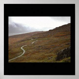 Healy Pass Winding Road in Ireland Print