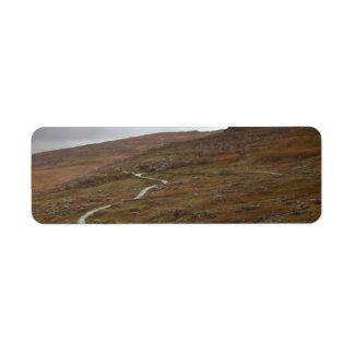Healy Pass, Winding Road in Ireland. Return Address Label