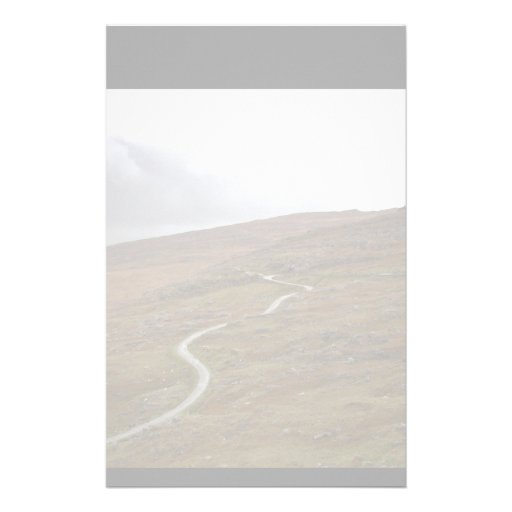 Healy Pass, Winding Road in Ireland. Stationery Design