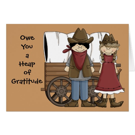 Heap of Gratitude - Western Thank You Card