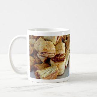 Heaps of sausage rolls basic white mug
