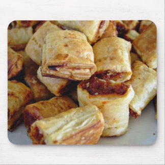 Heaps of sausage rolls mouse mat