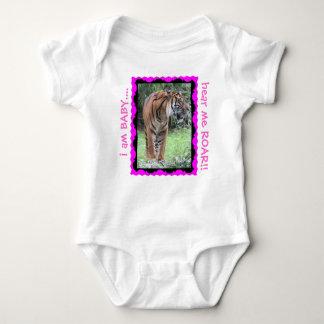 Hear Me ROAR, Tiger Baby Creeper! pink Tees