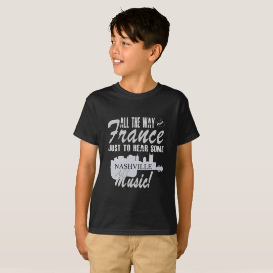 Hear Nashville Music from France Kid's T-Shirt