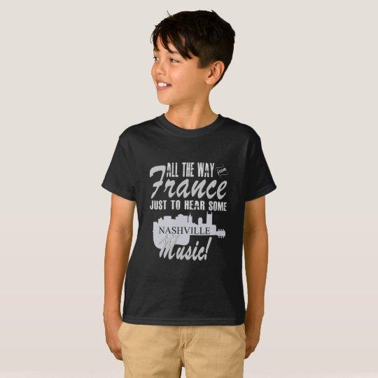 Hear Nashville Music from France Kid's T-Shirt
