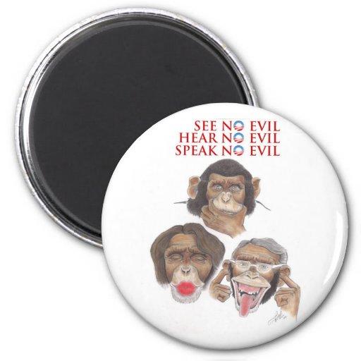 Hear No Evil_800 6 Cm Round Magnet