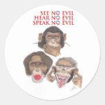 Hear No Evil_800 Classic Round Sticker