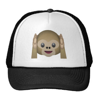 Hear No Evil Monkey Emoji Cap