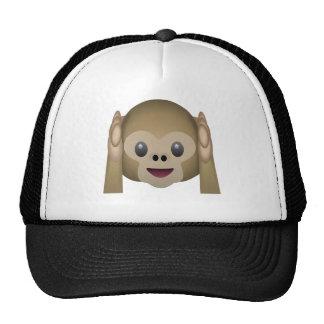 Hear No Evil Monkey Emoji Mesh Hat