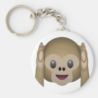 Hear No Evil Monkey Emoji Key Ring