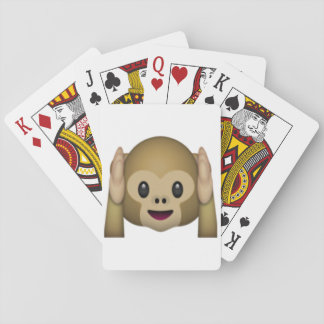 Hear No Evil Monkey - Emoji Playing Cards