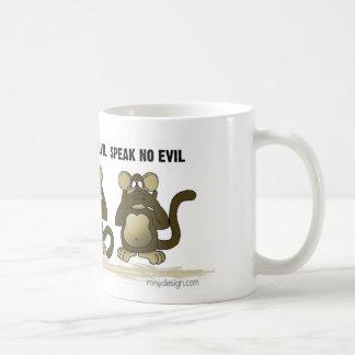 Hear No Evil Monkeys Coffee Mugs