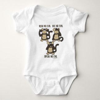 Hear No Evil Monkeys - New Baby Bodysuit