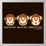 Hear No Evil Monkeys Poster