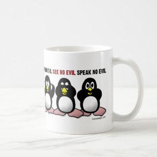 Hear No Evil Penguins Coffee Mug