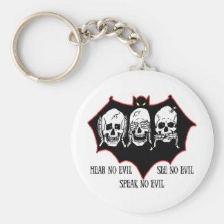 Hear no evil, see no evil, speak no evil Keychain