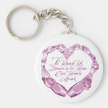 Hear Our Ballet Hearts Basic Round Button Key Ring